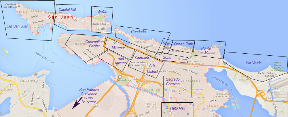 Click here for map of San Juan's neighborhoods